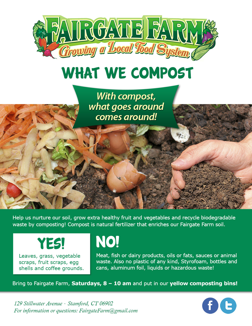 What we compost at Fairgate Farm